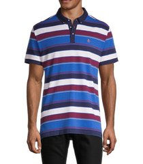 original penguin men's road map striped polo - turkish - size xl