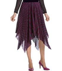 mönstrad kjol i flikig modell amy vermont flerfärgad