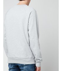 balmain men's flock sweatshirt - grey/blue - xxl