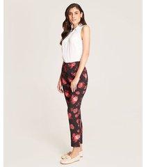 pantalón recto floral