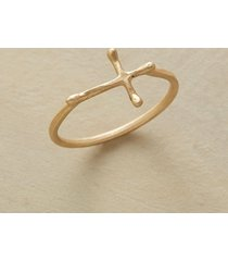 10kt gold crossways ring