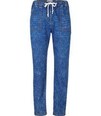 jeans larghi con effetto lavato (blu) - bpc bonprix collection