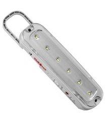 luminária de emergência 6 superleds com pilha 01981 ourolux