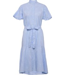 d2. pure prep printed dress jurk knielengte blauw gant