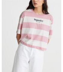 superdry women's harper stripe boxy t-shirt