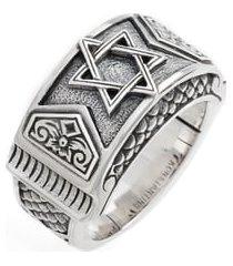 men's konstantino heonos star of david ring