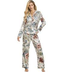 pijama dos piezas pantalon largo estampado adriana arango 8643
