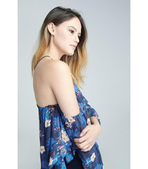 blusa off shoulder koaj - azul