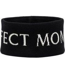 perfect moment jacquard logo merino headband - black