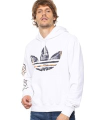 buzo  blanco  adidas originals watercolor hdy