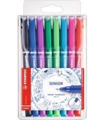 stabilo sensor fine liner pen wallet set, 8 pieces,