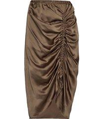 ruched pencil skirt knälång kjol brun designers, remix