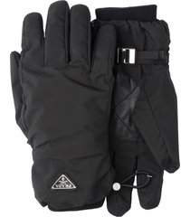 prada nylon gloves - black