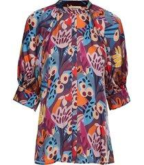 vanessa blouses short-sleeved multi/patroon custommade
