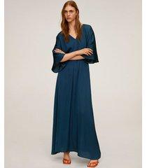 lange jurk met elastische taille