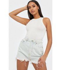 one teaspoon vanguard mid rise denim skirt minikjolar