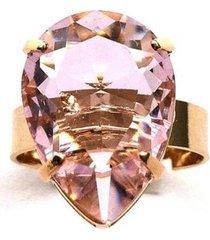 anel armazem rr bijoux gota rosa
