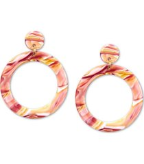 zenzii gold-tone acetate tortoise shell-look drop earrings
