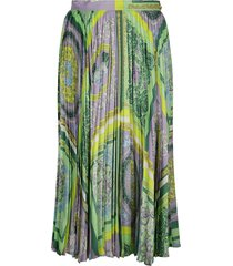 versace all-over printed pleated skirt