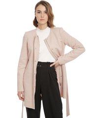 abrigo vero moda julia rosa - calce regular