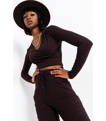 akira essential af ribbed corset hoodie