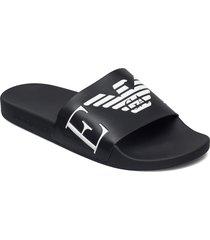 slipper shoes summer shoes pool sliders svart emporio armani