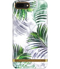 richmond & finch white marble tropics case for iphone 6/6s plus, 7 plus and 8 plus
