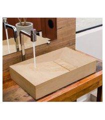 cuba de apoio banheiro astra cpp/m9s wooden vein marrom 55x35cm