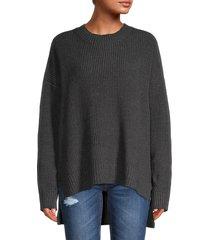 bcbgmaxazria women's high-low sweater - black - size xs