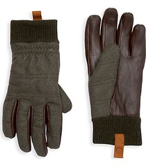 smart mixed-media gloves
