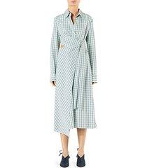 elliot checkered cut-out midi dress