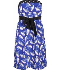 dept strapless jurk - whirling flow - blauw