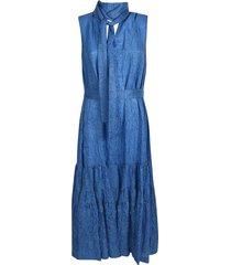 rochas wrinkled sleeveless tied dress