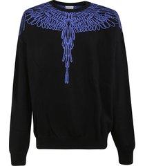 pictorial wings knit sweatshirt