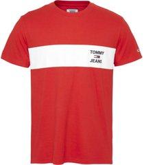 camiseta tjm chest stripe logo t-shirt rojo tommy jeans