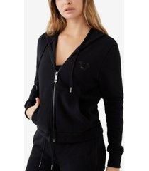 women's true religion zip up hoodie