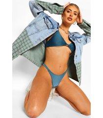 essentials geknoopte driehoek bikini top, petrol