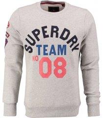 superdry lichtgrijze sweater