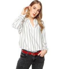 blusa blanca-gris mng