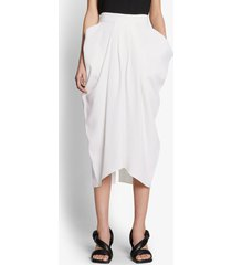 proenza schouler lightweight crepe draped skirt off white 8