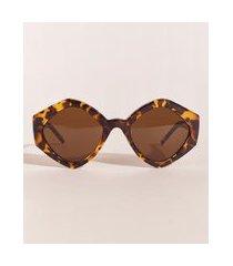 óculos de sol oval feminino ostra brasil tartaruga