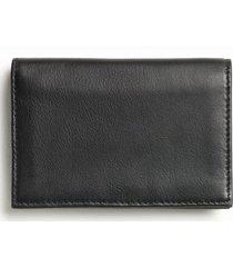 bosca leather card case in black at nordstrom