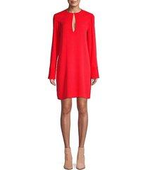 long-sleeve mini dress