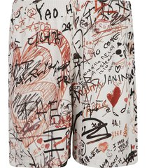 burberry all-over signature printed shorts