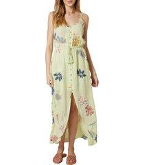 women's o'neill pamela floral print maxi dress, size x-small - green