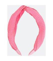 tiara larga com tecido fino enrugado | accessories | rosa | u