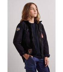 jaqueta mini nylon utilitaria reserva mini preto - preto - menino - dafiti