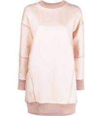 alexander mcqueen long-sleeve jumper dress - pink