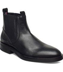 premium tailor derby chelsea stövletter chelsea boot svart tommy hilfiger