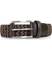 anderson braided woven brown blue belt af3689 bm